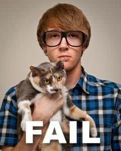 Hipster Cat Fail