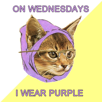 On Wednesdays I wear purple.