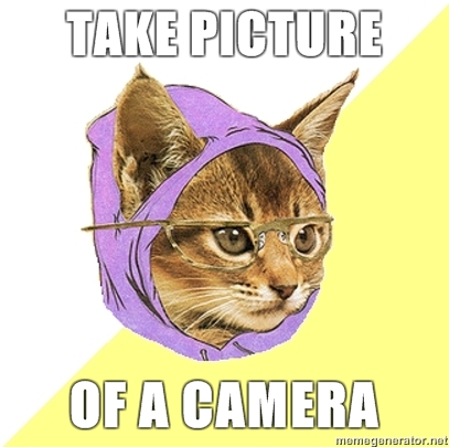 Take picture of a camera
